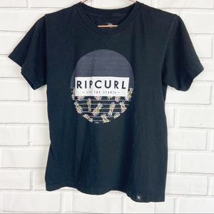 Kids Rip Curl surf beach ocean graphic tee small S